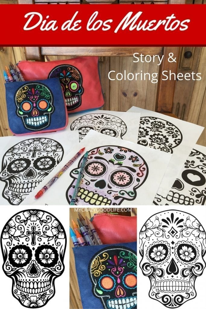Day of the Dead Coloring Pages and Story Book