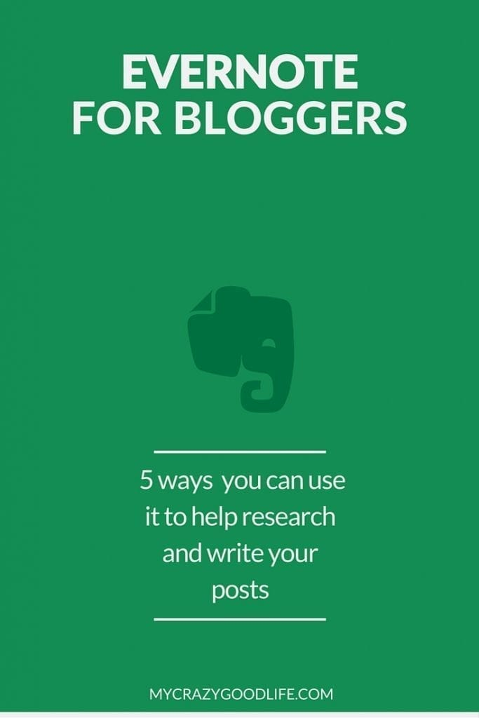 Evernote for Bloggers: 5 ways you can use it to research and write your posts