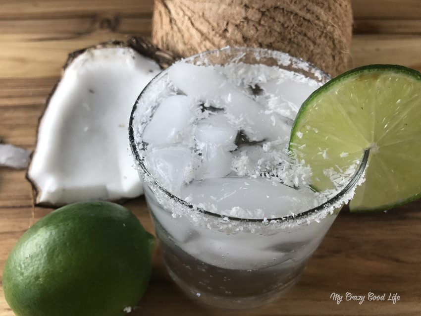 This low cal Coconut Margarita uses just a few ingredients and can take you to the beach... at least mentally. This is one of my favorite LaCroix cocktails... a LaCroix margarita!