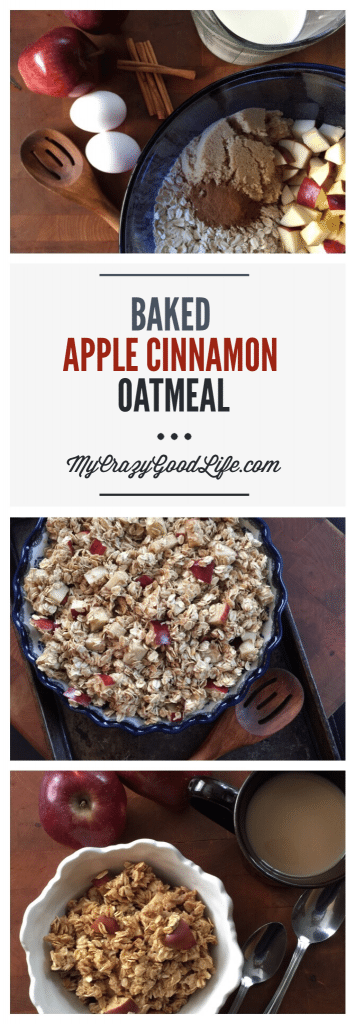 Recipe for Baked Apple Cinnamon Oatmeal | Gluten Free | with 21 Day Fix Counts