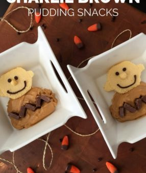 Charlie Brown Snack with pudding and pound cake