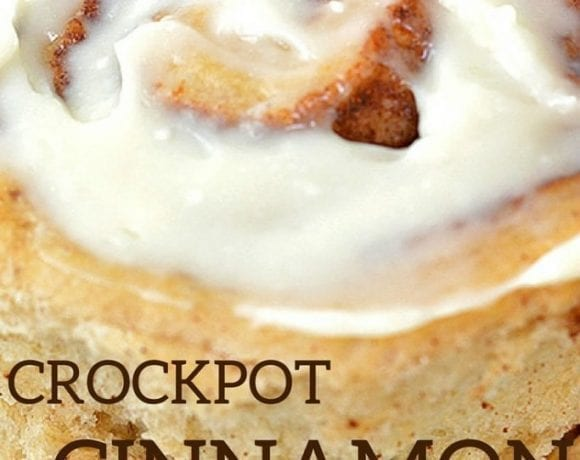Crockpot Cinnamon Rolls with Cream Cheese Frosting