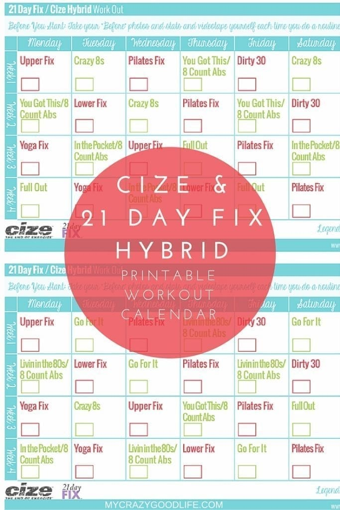 It's just a photo of 21 Day Fix Workout Schedule Printable throughout tracker