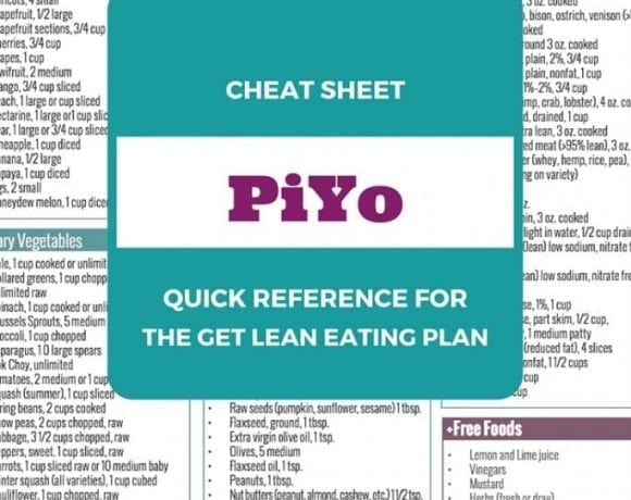 PiYo Eating Plan Download: Cheat Sheet