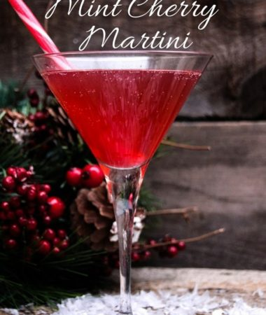 Looking for a delicious holiday cocktail? Mrs. Claus' Mint Cherry Martini will do the trick! Christmas Cocktails | Cherry Cocktails | Holiday Happy Hour