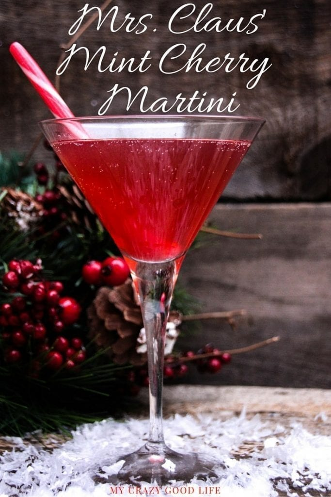 Mrs. Claus' Mint Cherry Martini