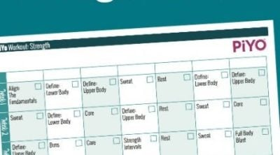 This free printable PiYo workout calendar can be printed as many times as you need! Don't mark up your new PiYo book–use these instead to track your workouts!