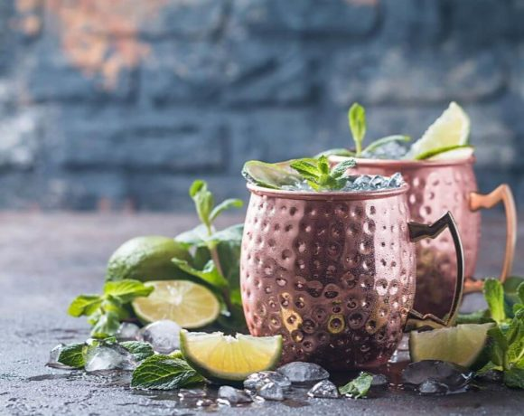 Fresh Moscow Mule recipe ready to drink.