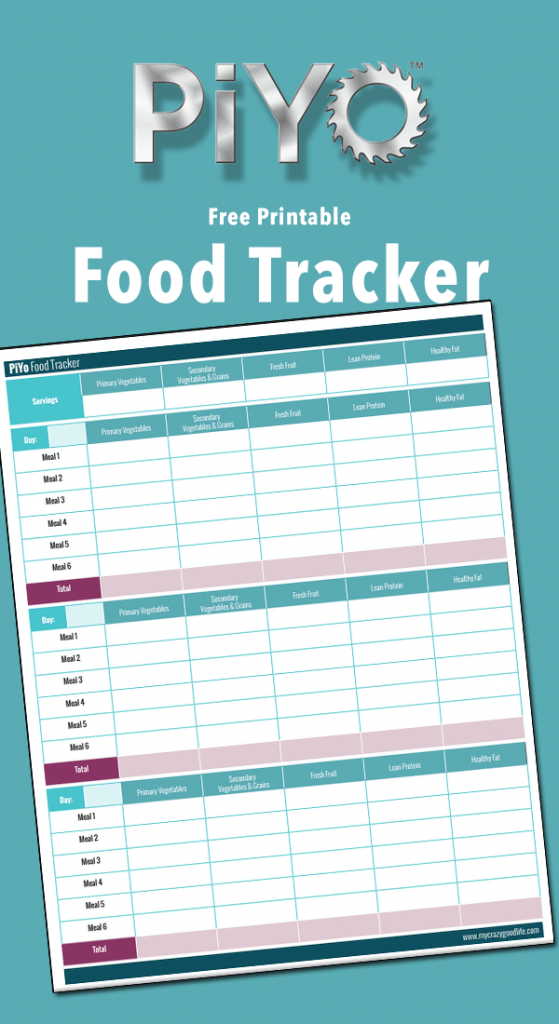 This free printable PiYo Food Tracker will help you get your nutrition in line while doing the PiYo videos!