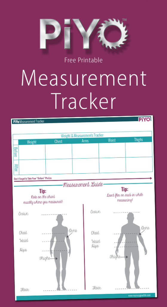 graphic relating to Printable Measurement referred to as Printable PiYo Size Chart - My Mad Terrific Everyday living