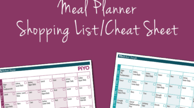 PiYo Printable Worksheets