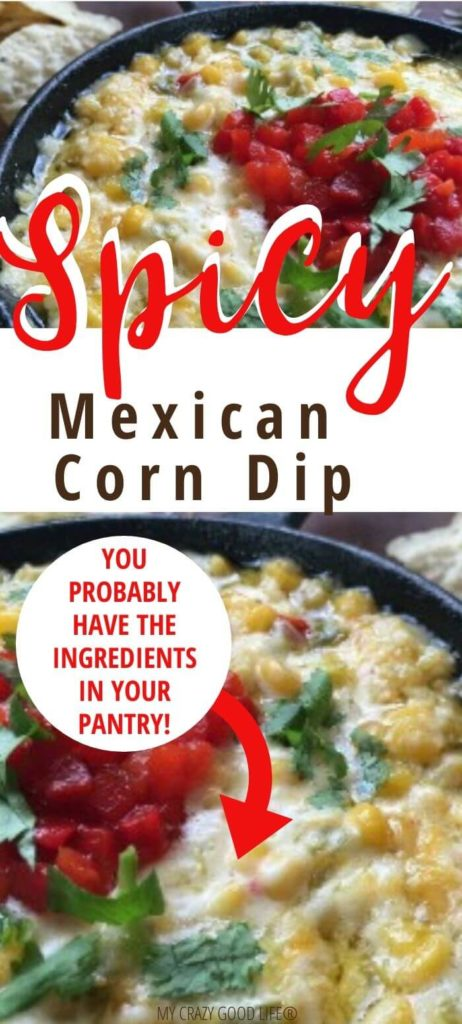 Pin for spicy Mexican corn dip