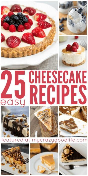 25 Easy Cheesecake Recipes