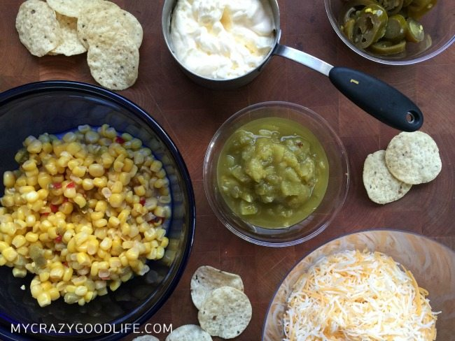 Ingredients for Spicy Mexican Corn Dip