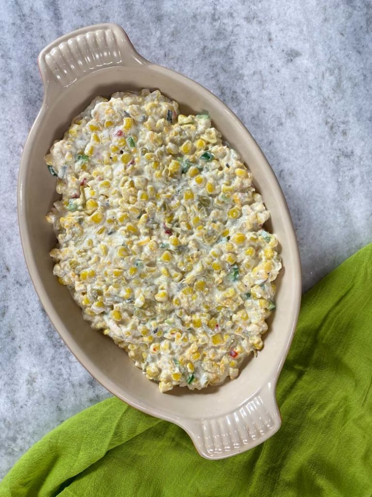 uncooked Mexican corn dip