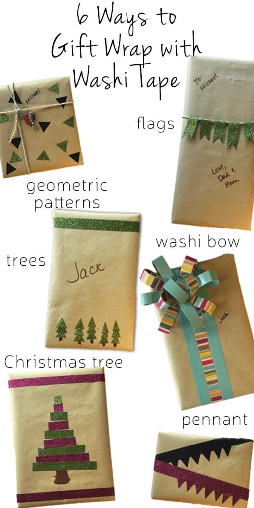6 Fun Washi Tape Gift Wrap Ideas