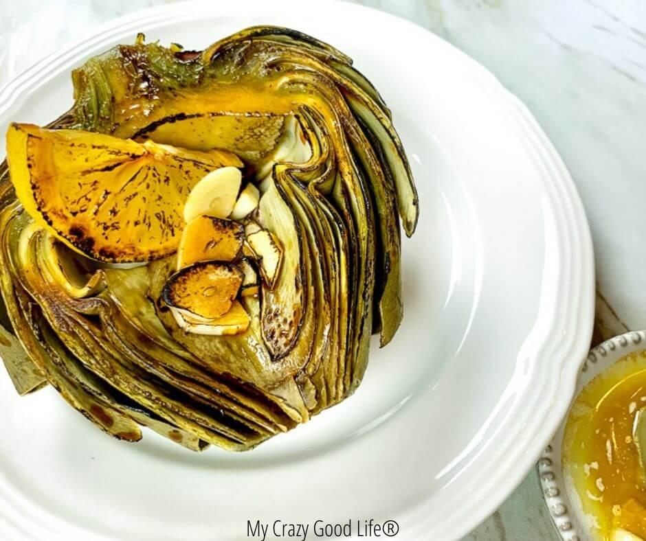 roasted artichokes finished