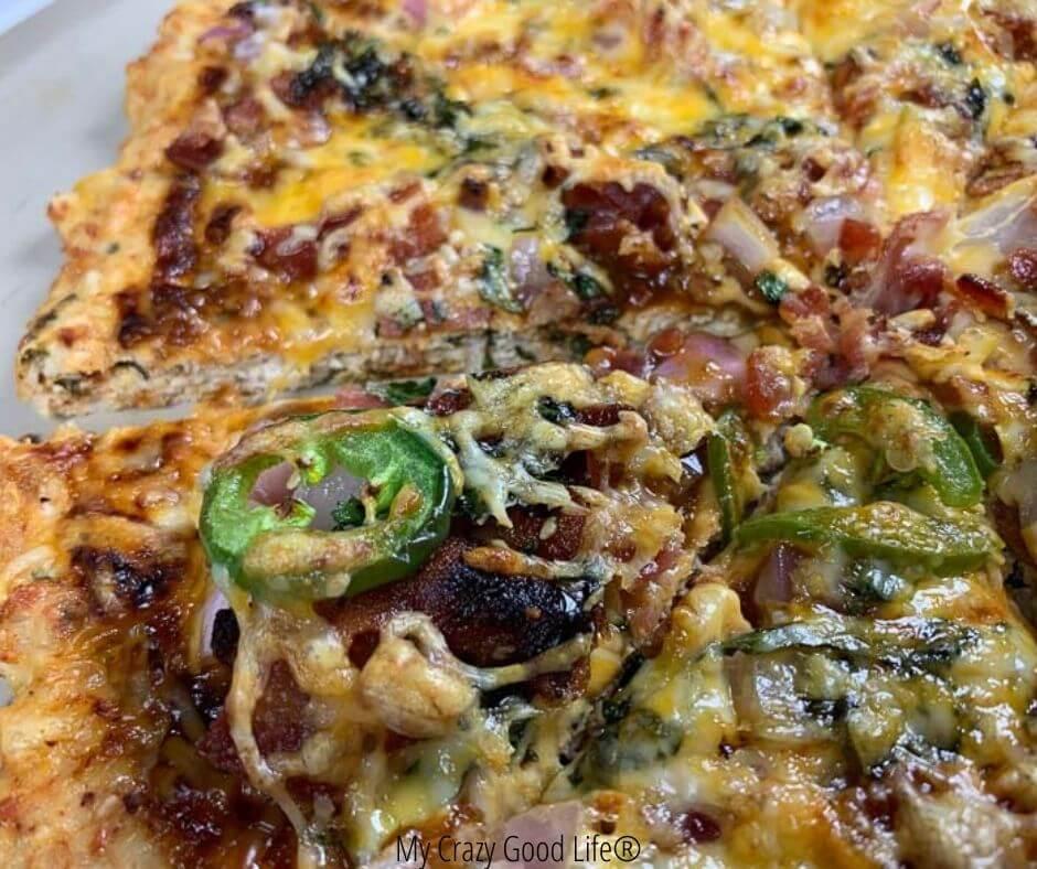 bbq chicken meatza recipe