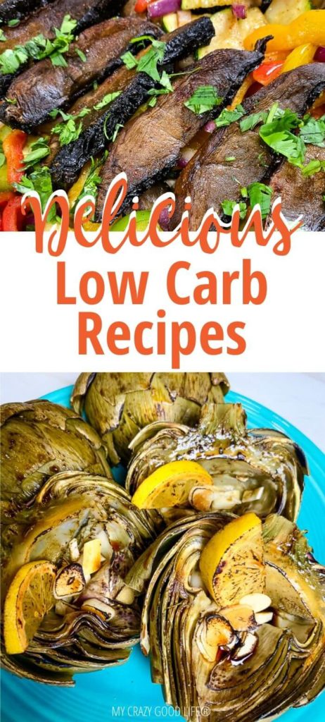 pin for delicious low carb recipes post