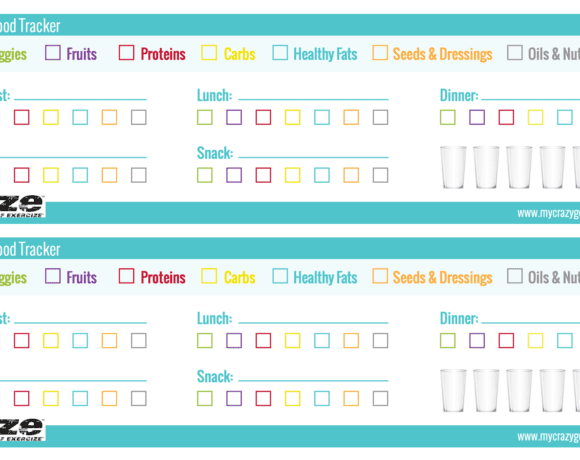 Cize Printable Meal Tracker