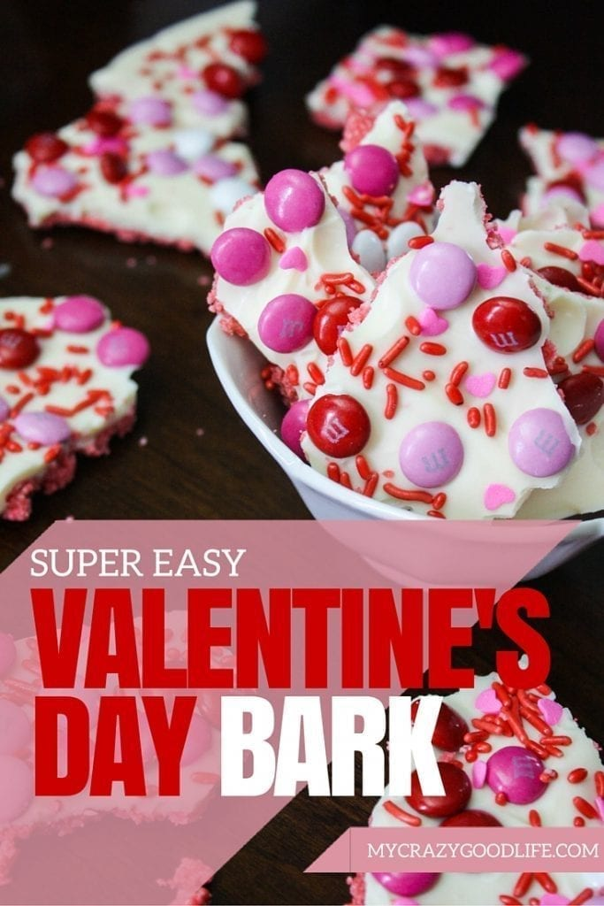 This easy Valentine's Day Bark recipe is one of our favorite easy recipes for holidays! You can make it your own by using your favorite holiday candies. Great a Valentine's Day party, birthday party, or any day!