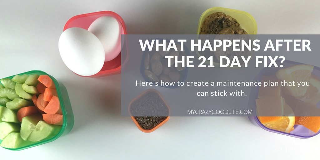 What Happens After the 21 Day Fix: Maintaining with your containers ...