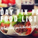 21 Day Fix Fast Food List