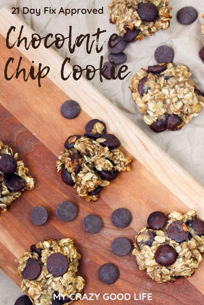 These 21 Day Fix Chocolate Chip Cookies are a delicious 21 Day Fix dessert! Bananas and chocolate chips with oats help to satisfy your cravings and kids love them! 21 Day Fix Treat Swap #21dayfix #beachbody #healthy