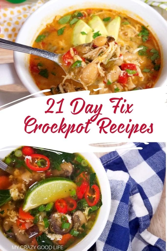 a collage of two crockpot recipes
