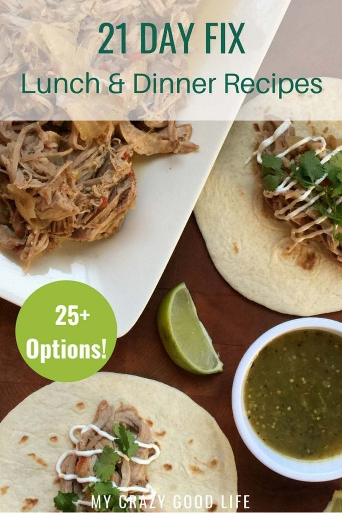 I've pulled together a ton of 21 Day Fix lunch and dinner recipes for you! I know it's hard to stay motivated on the 21 Day Fix–here are some of my favorite healthy lunch and dinner recipes! Healthy Dinner Recipes | 21 Day Fix lunch recipes | #21dayfix #beachbody