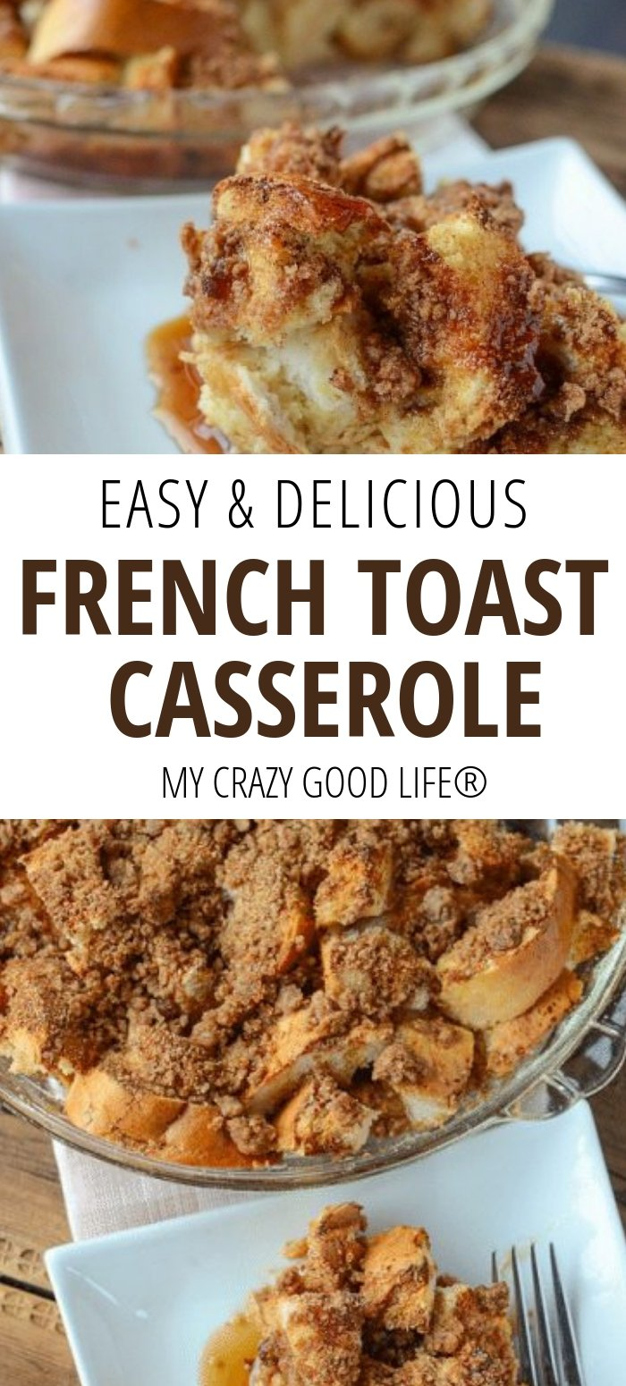 image with text of french toast casserole
