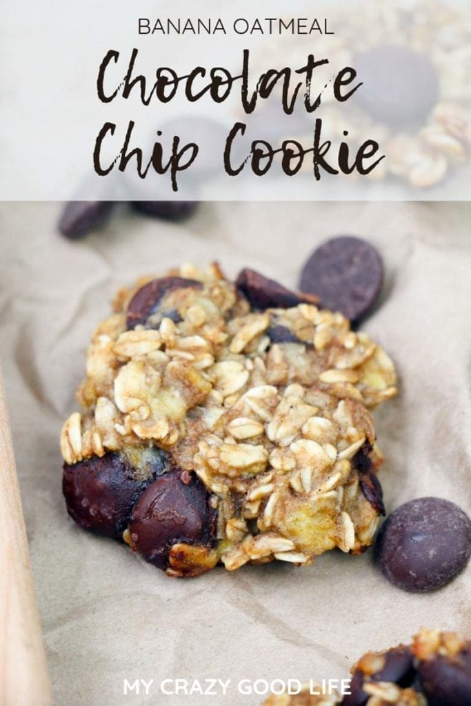 These Banana Oatmeal Chocolate Chip Cookies are so easy to make! I love making a quick batch when I have to use ripe bananas, and they keep me on track with weight loss! A healthy cookie recipe, for sure!