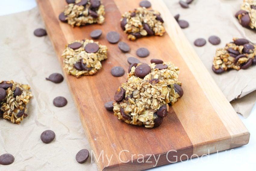 Banana Oatmeal Chocolate Chip Cookies Healthy Chocolate Chip