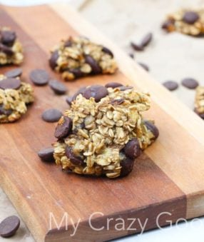 Looking for a healthier chocolate chip cookie? These banana oatmeal cookies are the perfect thing to satisfy your sweet tooth!