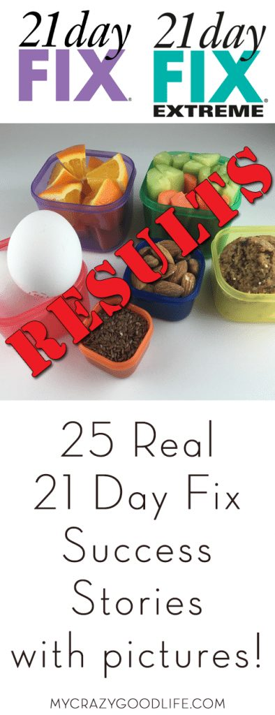 21 Day Fix results: The proof is here! These 25 true stories (most of them with pictures) shows you what happens when you stay dedicated for 21 days. The 21 Day Fix and 21 Day Fix Extreme results are amazing!