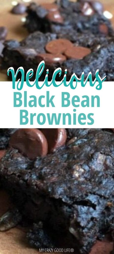 pin for black bean brownies post