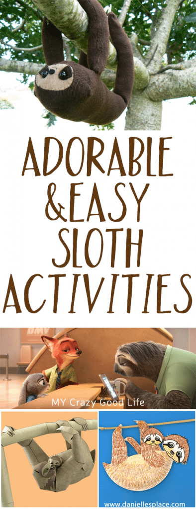 Adorable And Easy Sloth Activities Amp Recipes My Crazy Good Life
