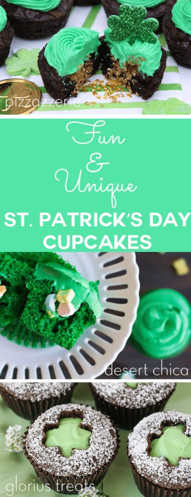 These Fun & Unique St. Patrick's Day cupcakes are adorable! Some are adult St. Patty's Day cupcakes and most are safe for kids, but all are an adorable addition to any Irish celebration!