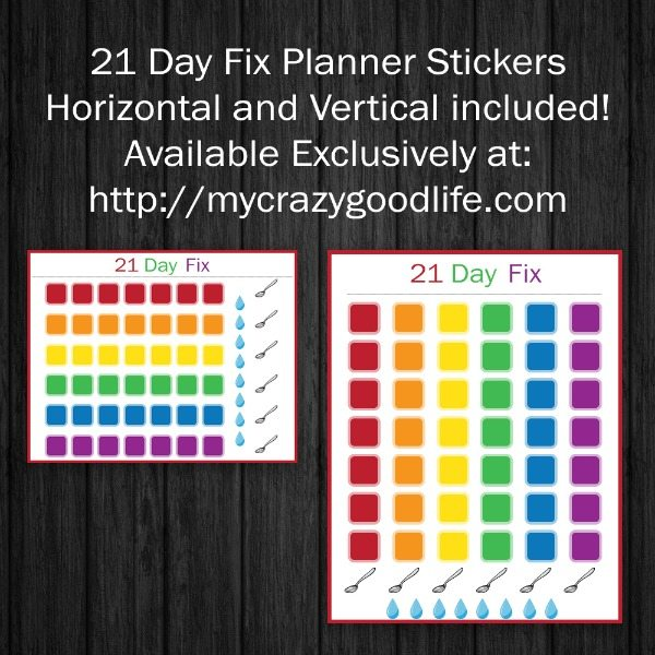21 Day Fix Erin Condren stickers