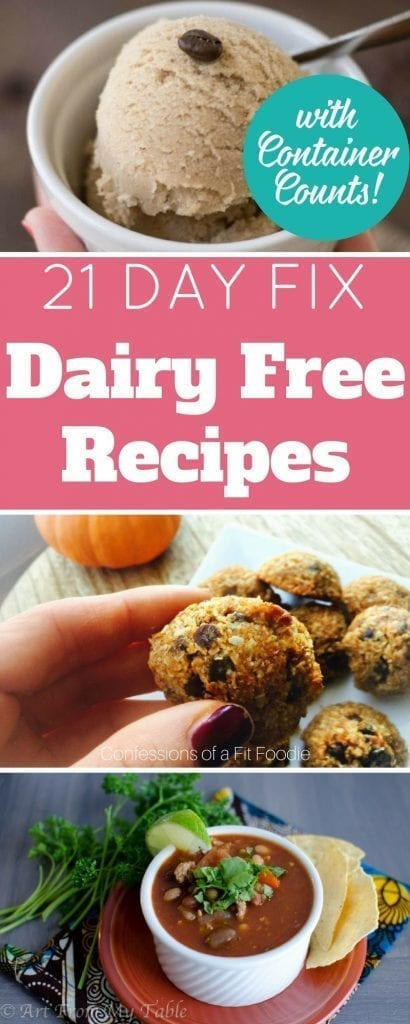 Following the 21 Day Fix with food allergies might seem impossible, but it's not! Here are some delicious 21 Day Fix Dairy Free recipes for you to try today! Breakfast, lunch, dinner, and desserts!