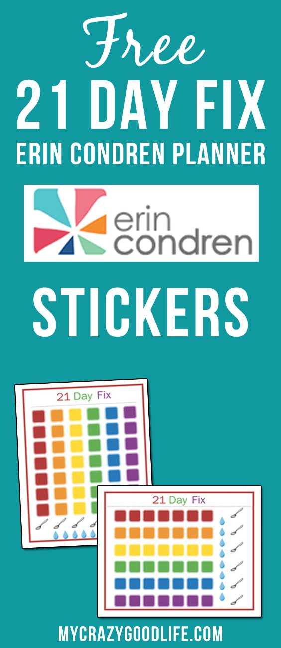 These FREE 21 Day Fix Erin Condren stickers will help you stay on track all day, every day. Vertical and horizontal stickers are included for download.