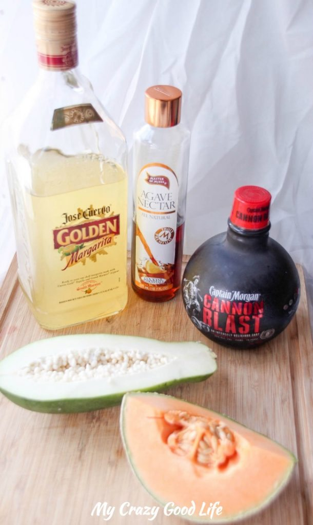 Ingredients for Tropical Rum Margarita