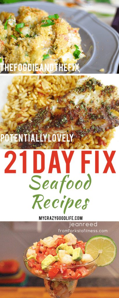 Seafood is easy to prepare and nutritious! It's the perfect food for when you're watching your weight. Here are my favorite 21 Day Fix seafood recipes!