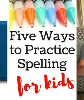 Every kid learns differently, so it's important to practice spelling several ways to see what works for your child. Here are five ways to practice spelling!