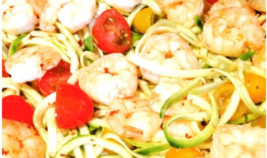 Shrimp Zoodles   Confessions of a Fit Foodie