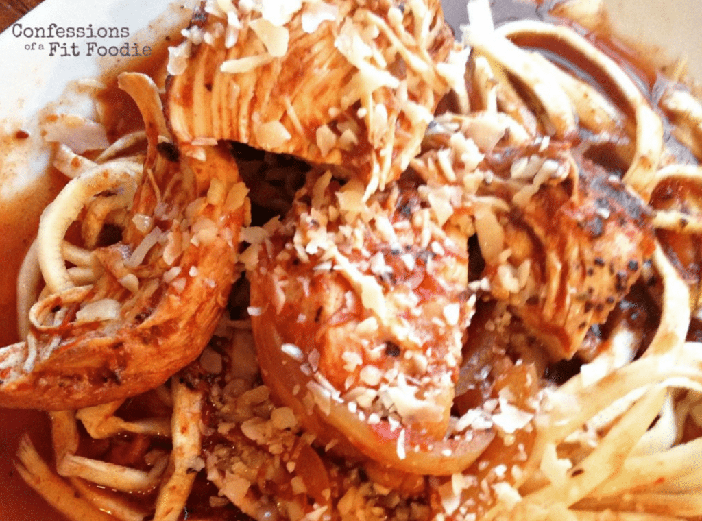 Balsamic Chicken Zoodles   Confessions of a Fit Foodie
