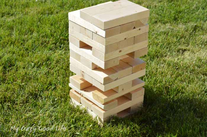 You can easily build this DIY Giant Jenga game for your next party of picnic
