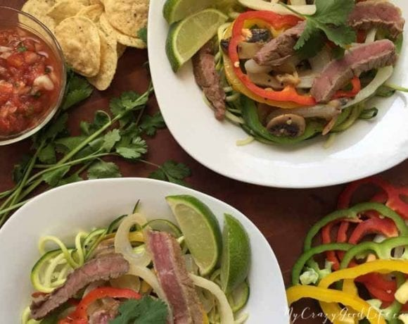 Steak Fajita Zoodles Recipe | Gluten Free
