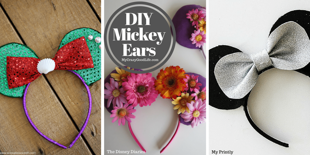 "These DIY Mickey Ears tutorials will have you and your family park ready in no time! Not only are they a super fun project for the whole family, they're an awesome way to save some money, and you can get a jump on your ""DisneyBounding""!"