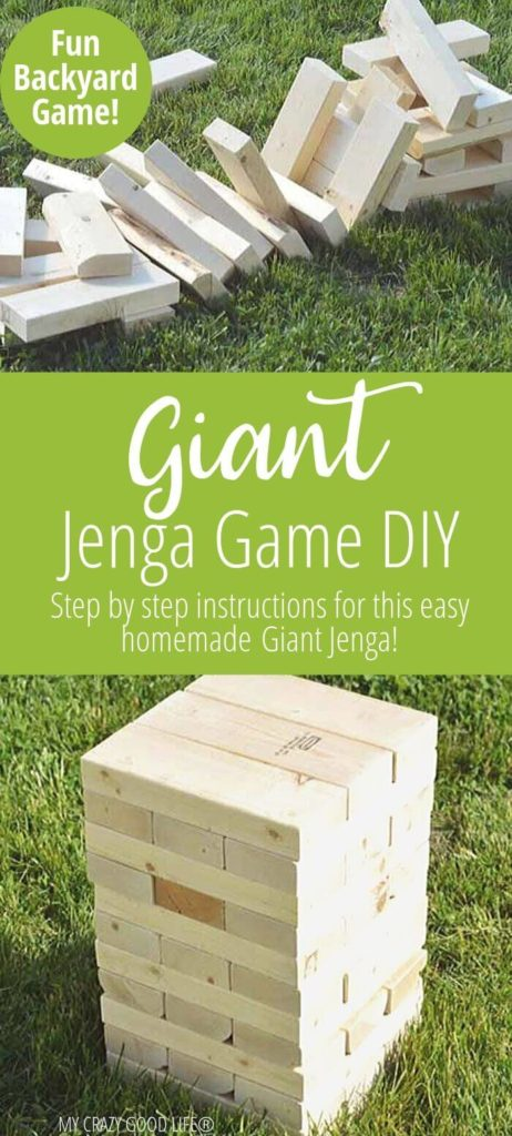 Giant Jenga Game Giant Jenga Diy Project My Crazy Good Life